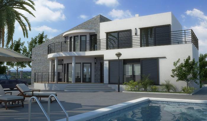 Luxury villas in Benissa close to the beach pool