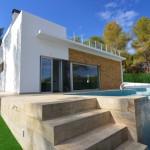 Luxury villas in Benissa close to the beach garden