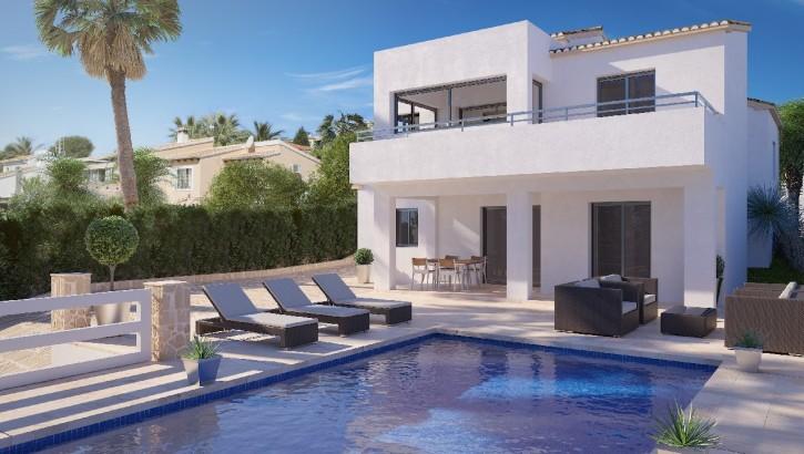Neubau Villa mit Meerblick in Calpe