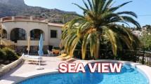 Bonita villa con hermosas vistas al mar en Calpe