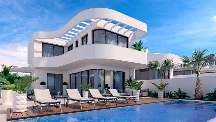 Belles maisons avec propre piscine la marina for Moderne infrastruktur