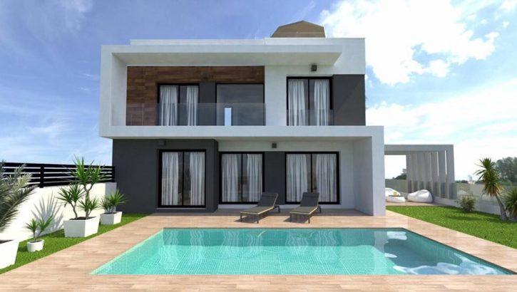 Modern villas in Lomas de Cabo Roig Costa Blanca