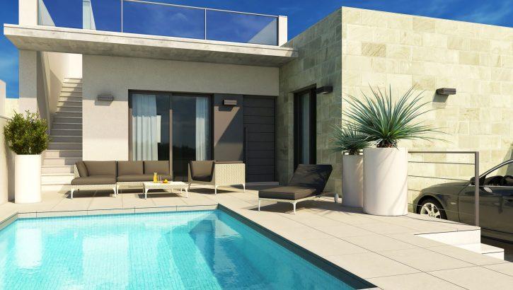 Casas nuevas con piscina en Daya Vieja Costa Blanca