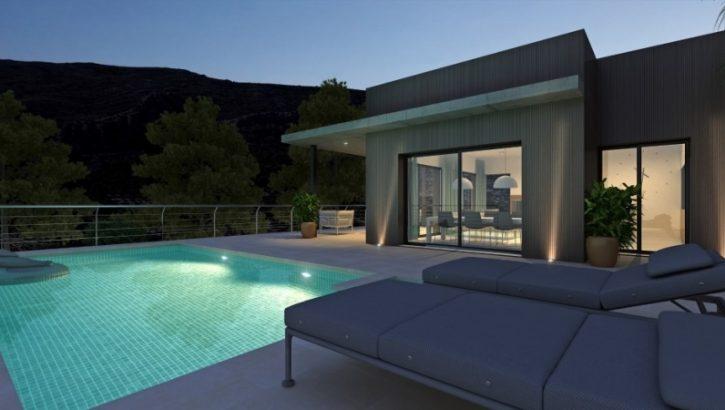 Moderne Villa mit Pool in Pedregeur Costa Blanca
